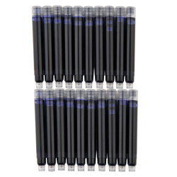 10 pcs wholesale price disposable blue black red fountain pen ink cartridge refills length fountain pen.jpg 250x250