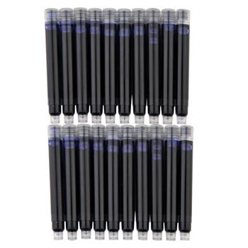 10 pcs wholesale price disposable blue black red fountain pen ink cartridge refills length fountain pen.jpg 350x350