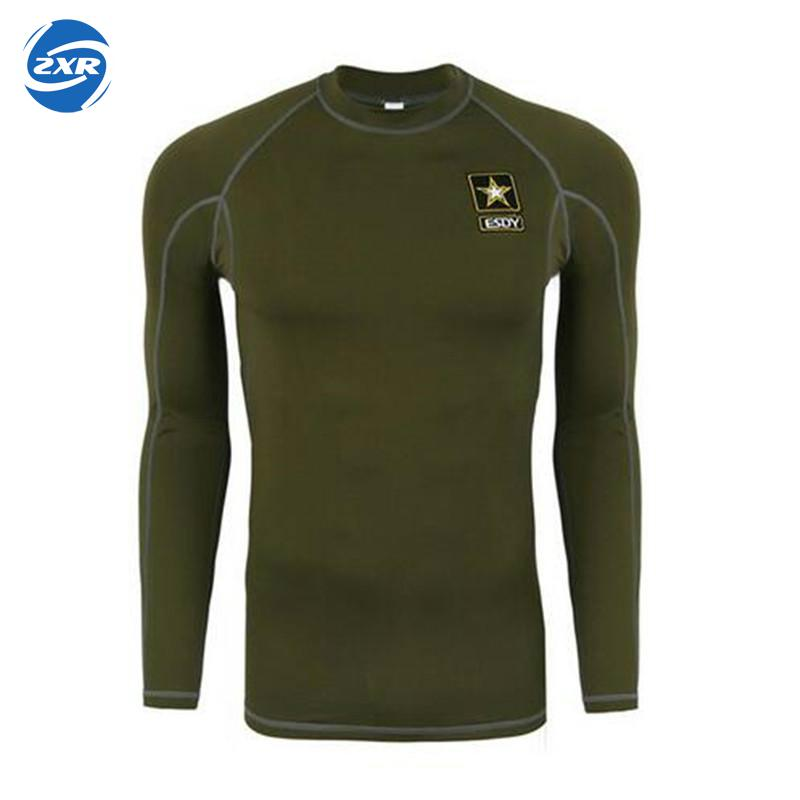 Outdoors Slim Fit Long Sleeve Tactical T Shirt Men Army T-shirt Military Tshirt Dry Sport Tee Shirts Plus Size Roupas Mascmascul