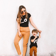 Shirts Outfits Mom Matching Family-Look Daughter Mommy Loved Child Kid Summer And Casual