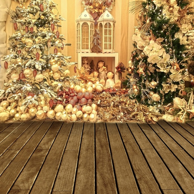 laeacco christmas tree fireplace lamp wooden floor photography backgrounds customized photographic backdrops for photo studio