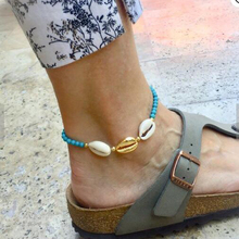 Tocona Bohemia Beaded Anklets for Women Charms Natural Beach Shell Barefoot Sandals Summer Jewelry Accessories 6966