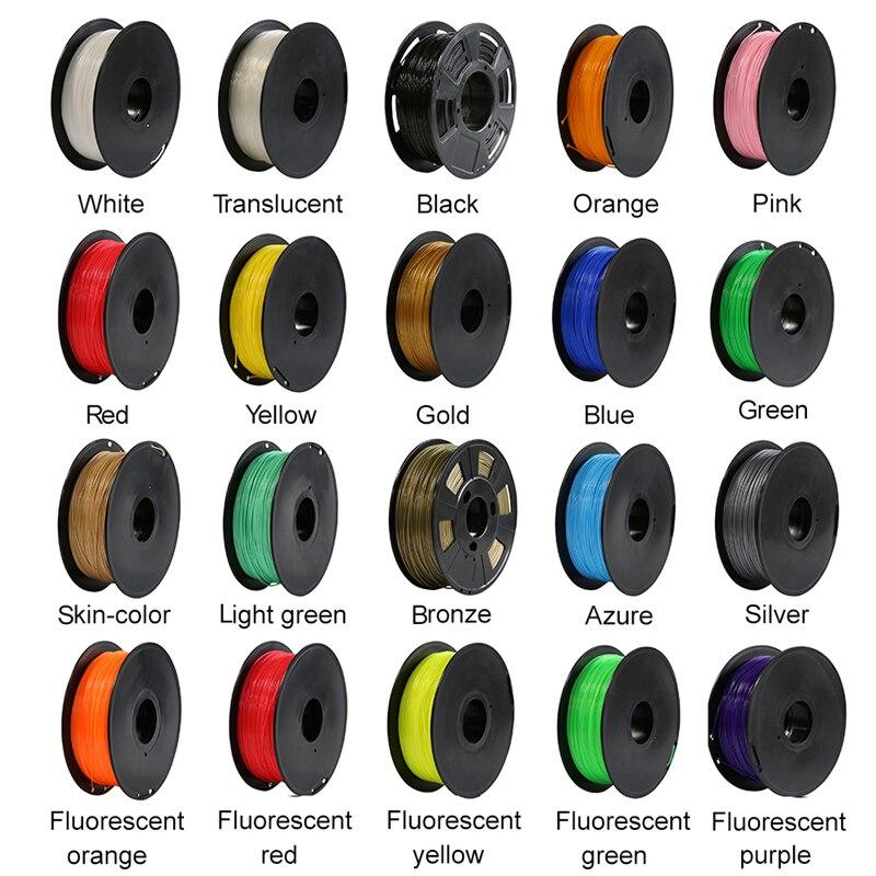 CREALITY 3D 3D Imprimante Filament PLA 1.75mm 1 kg/2.2 lbs RepRap MakerBot Impression Matériel 20 Couleurs En Option
