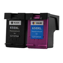 2PK Ink Cartridges Remanufactured For HP 650 650XL Deskjet 1015 1515 2515 2545 2645 3515 4645 Cartridge Printer Inkjet