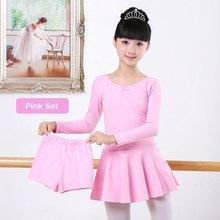 Cotton Long Sleeve Separate Shorts Dance Ballet Suit