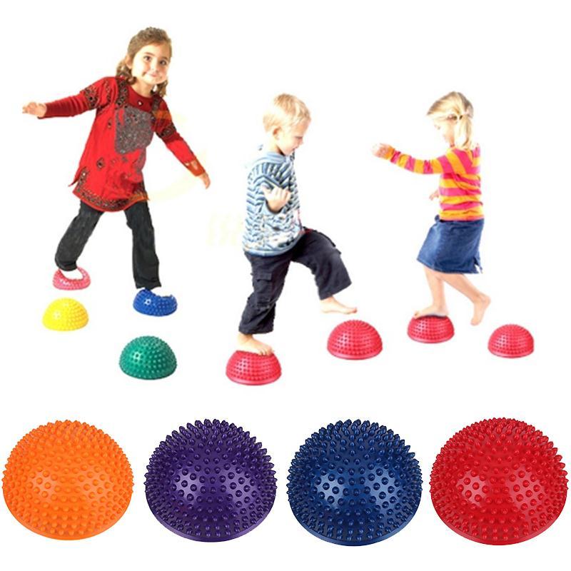 Joga polovična žoga Fizični fitnes aparat vadba ravnotežja Masa z - Fitnes in bodybuilding