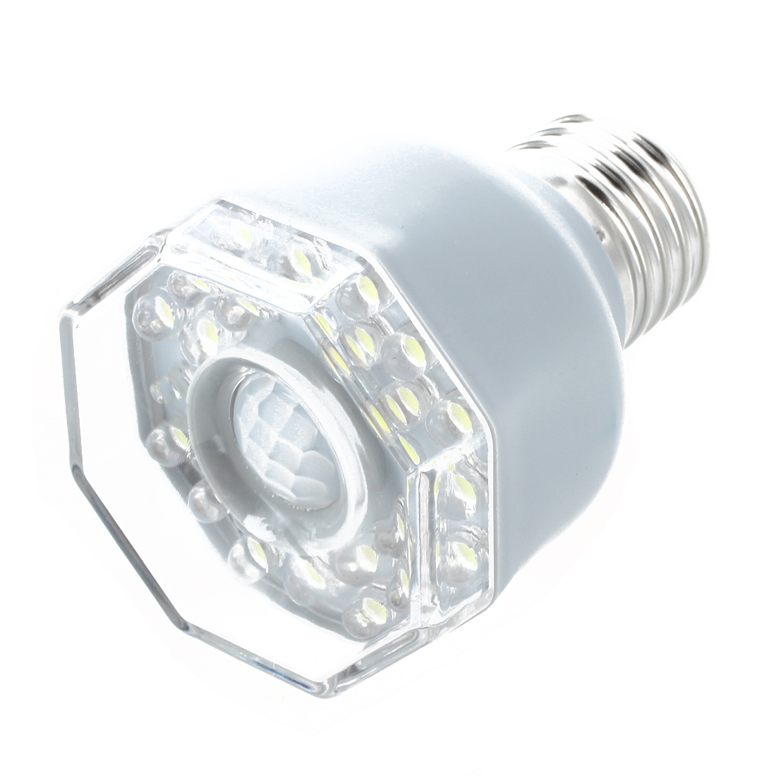 E27 24 LED Night Light Lamp Motion Sensor White