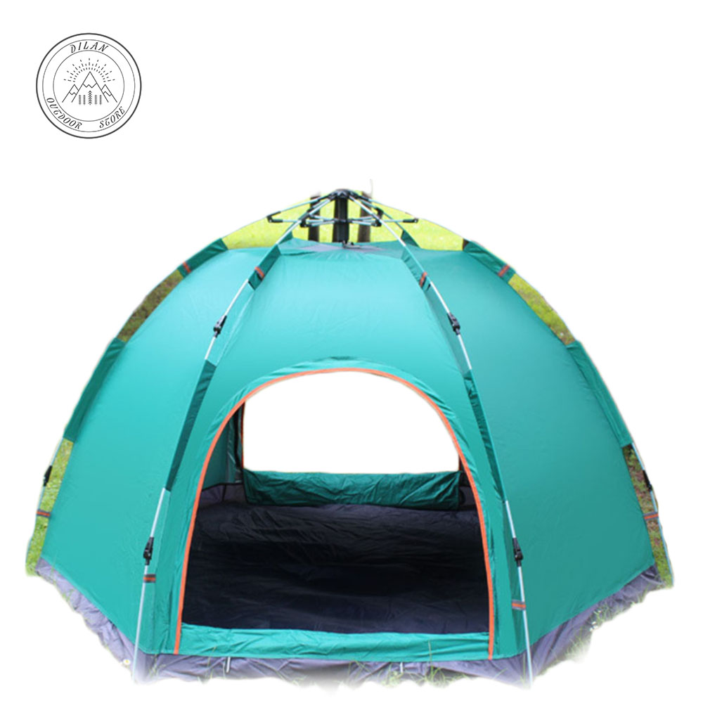 tents outdoor camping family Necessary Full automatic tent outdoor 3-5 people hexagonal tent camp rain protection fishing tent