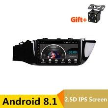 9 «2.5D ips Android 8,1 Автомобильный мультимедийный dvd-плеер gps для KIA Rio 4 K2 2017 2018 аудио автомобиля Радио стерео навигации Встроенная WI-FI