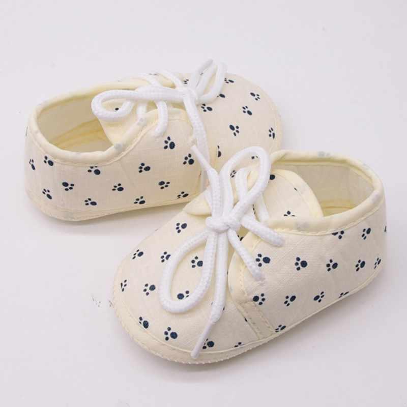 זול תינוק נעלי טהור כותנה יילוד תינוקת ילד נעליים לפעוטות ראשון הליכונים תינוק מוקסינים Sneaker עריסה 0 -18 חודש