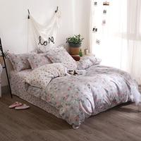 A3 bedding set bed linen Pink jacquard fruit duvet cover Quality Egyptian Cotton Flat sheet pillow case wedding bed sheet