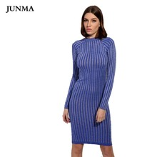 b802fd266cd Warm and Charm Women Sweater Dress 2018 Fall Winter Long Sexy Lurex Bodycon  Dresses Elastic Striped