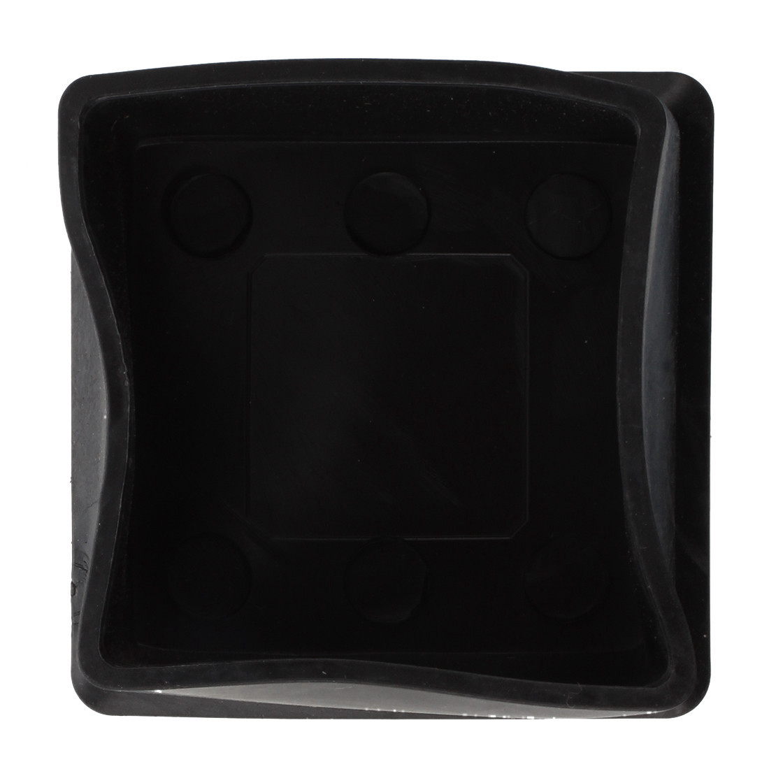 Square Black Rubber 50mmx50mm Foot for Table Chair Leg