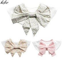 New Cotton Baby Bibs 360 Degree Rotation Round Saliva Towel Bow Style Floral Pattern Big Flower Bib round big flower pattern beach throw