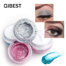 Макияж qibest блестящие тени для век хайлайтер maquiagem мерцающие