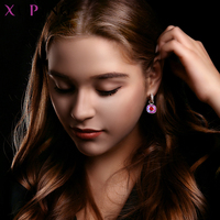 Xuping Jewelry Luxury Exquisite Crystals from Swarovski Gold Color Plated Earrings for Women Valentine's Day Gifts