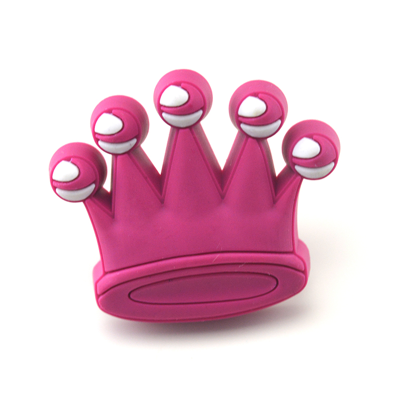 MEGAIRON Crown Cute Cartoon Knob Dresser Drawer Pull Handles Cabinet Cupboard Door Knobs For Kids Children Room Decorative 8pcs cute cartoon children bedroom furniture cabinet drawer dresser knobs door pull handles soft pvc handles for kids