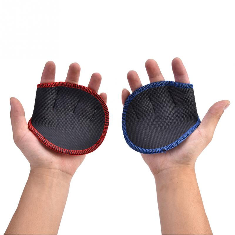 Grips-Pads Dumbbell Lifting-Training-Gloves Hand-Palm-Protector Bench-Press Weight Exercises