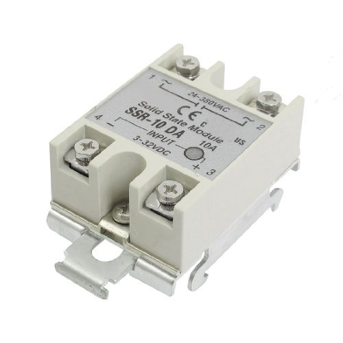 Hot Grey 10A 3-32VDC 24-380VAC SSR-10DA Solid State Relay DIN Rail Base цены