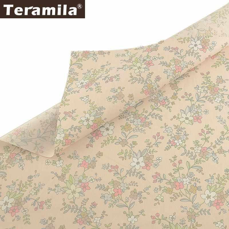 Teramila ผ้าฝ้าย 100% ดอกไม้ผ้าเมตร Telas Tissus DIY ผ้านวม Patchwork ผ้าคลุมเตียงผ้าม่านเด็กชุดบ้าน Twill ผ้า
