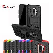 Heavy Duty PC+TPU Shock Proof Armor Hard Case For For Samsung Galaxy C7 Pro A6 A8 S9 Plus J3 J4 J6 J7 DUO 2018 Stent Phone Case