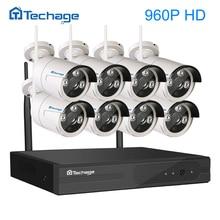 Techage 8CH 960 P NVR Inalámbrica Wifi CCTV Sistema 8 UNIDS Kit P2P 1.3MP Cámara de Vigilancia de Seguridad IP Impermeable Al Aire Libre Vista remota