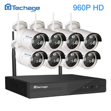 Techage 8CH 960P Wireless NVR Wifi CCTV System 8PCS 1.3MP Outdoor Waterproof IP Security Camera Surveillance Kit P2P Remote View