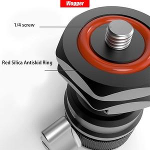 Image 4 - Vlogger universal tripé bola de cabeça com sapata fria montar 1/4 parafuso para led luz mic rápida cabeça bola instal dslr câmera cabeça