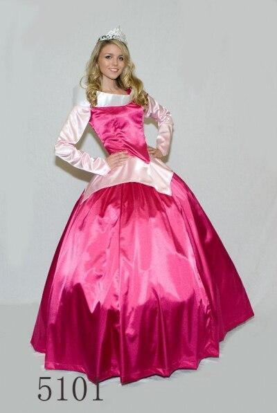 Free PP! Sleeping Beauty Princess Aurora Costume Pink adult Princess Cosplay Costume