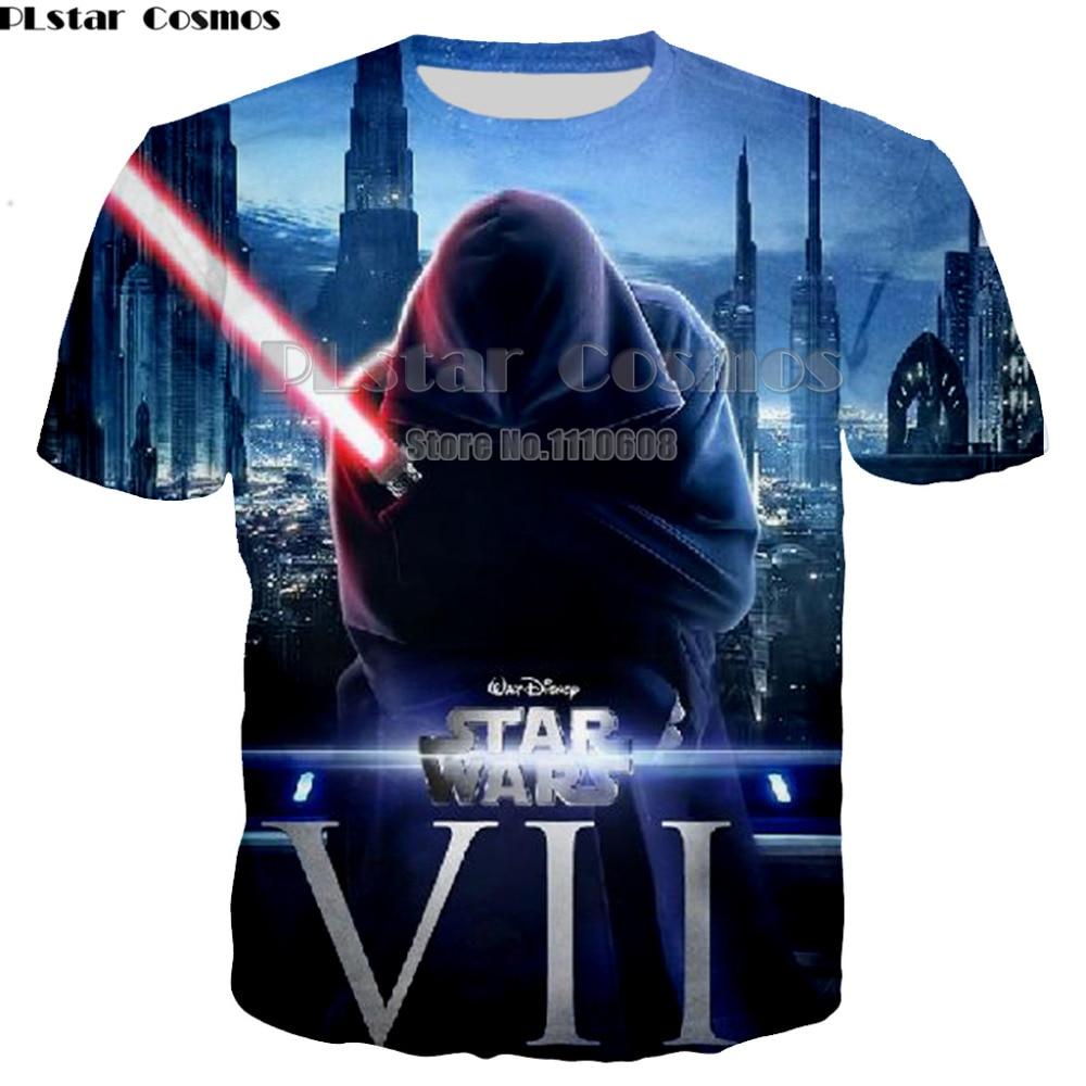 PLstar Cosmos New Fashion Design Men women T-shirt Short Sleeve Hipster Star Wars Tops The 3d Printed t shirts Cool tee