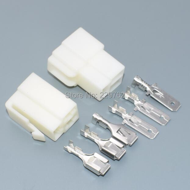 Shhworld Sea 50 комплектов 6,3 мм 3P 3-ходовой контактный автомобильный электрический соединитель наборы мужской гнездовой штепсельной вилки для мотоцикла авто автомобильный Автомобиль