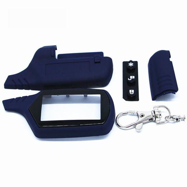 Starline A91 clé coque porte-clés pour Version russe Starline A91 lcd télécommande système d'alarme de voiture bidirectionnelle