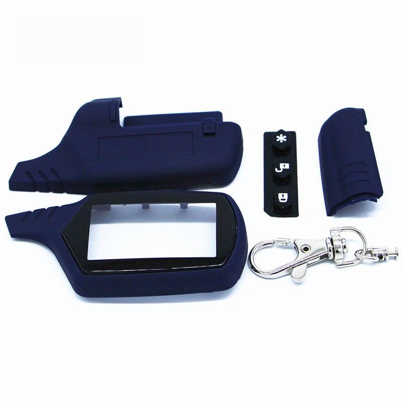 Starline a91 키 쉘 키 체인 케이스 러시아어 버전 starline a91 lcd 원격 양방향 자동차 경보 시스템