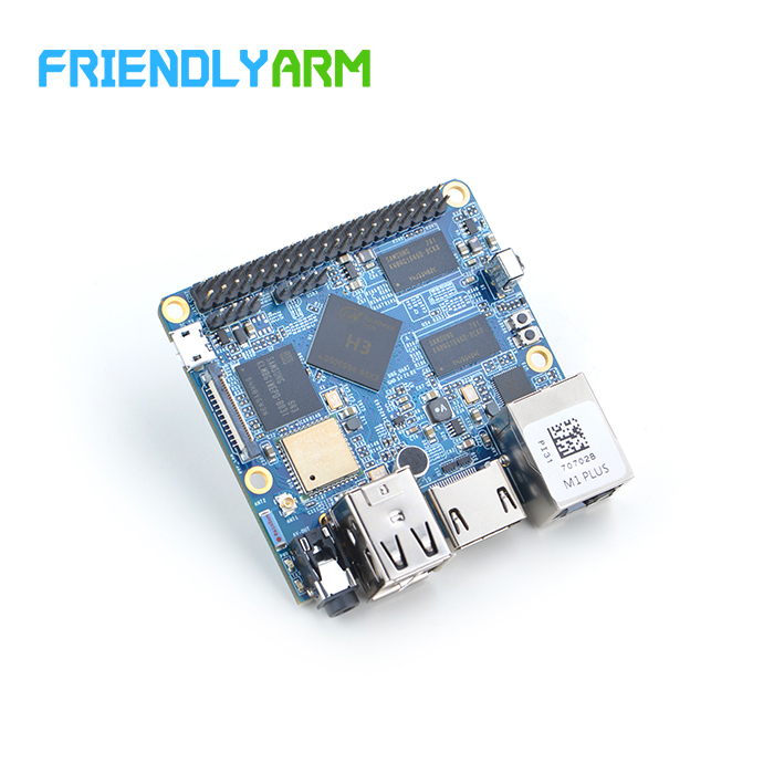 Friendly Open Source Development Board NanoPi M1 Plus, Full H3, Gigabit Network Card WiFi Bluetooth EMMc friendly development board nanopi fire2a with 4 3 inch capacitive screen s430 s5p4418 electronic board open source