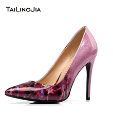 Women High Heel Patent Leather Pumps Pointed toe Dress Heels Stiletto Court Shoes Large Size Wholesale Heel Height 10.5cm elegant white patent leather wedding shoes women pointed toe high heel pumps stiletto heel court shoes pointy dress heels 2018