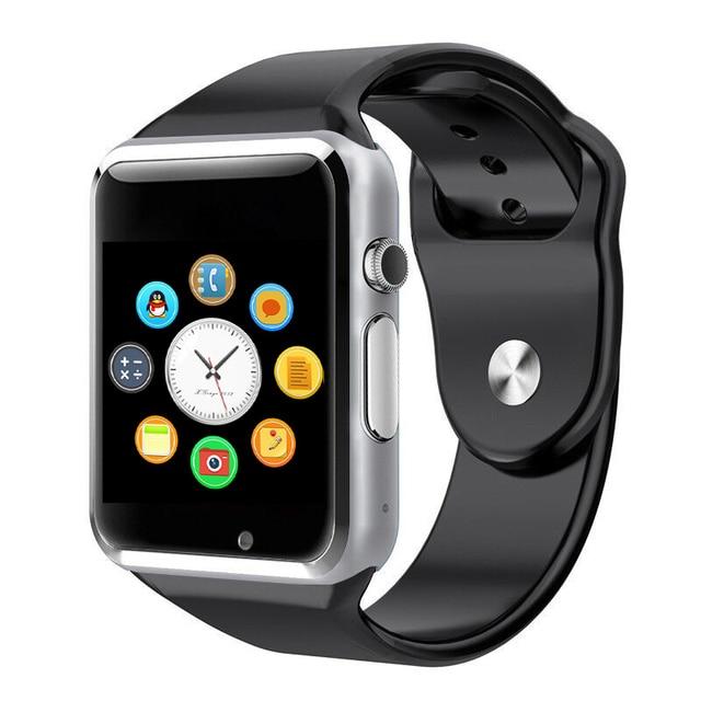 2016มาใหม่a1 smart watchนาฬิกาซิงค์แจ้งเตือนสนับสนุนซิมtfบัตรการเชื่อมต่อapple iphoneโทรศัพท์a ndroid smartwatch