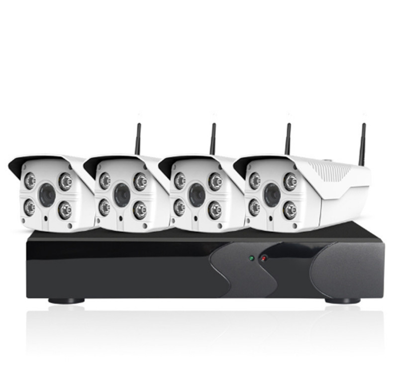 960P 4CH Wireless WIFI IP Camera NVR Kit