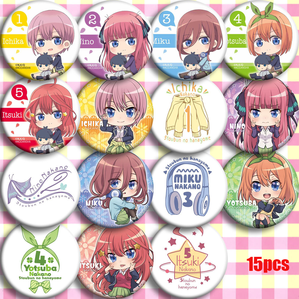 Anime Go Toubun No Hanayome The Quintessential Quintuplets Cosplay Party Bedge Cartoon Collect Backpack Badges Button Brooch Pin