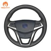 MEWANT Black Artificial Leather Car Steering Wheel Cover for Changan CS35 EADO