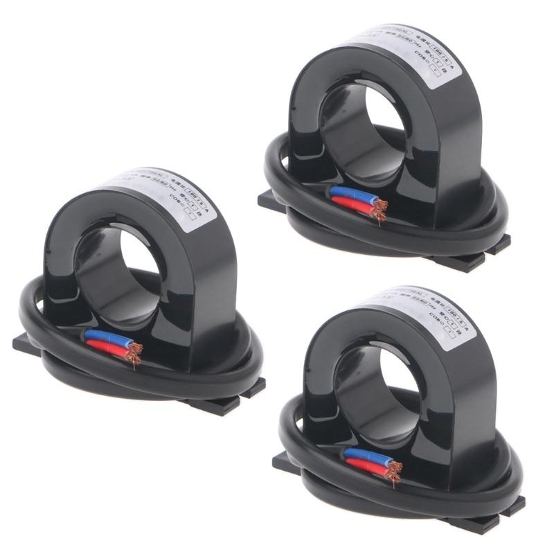3 Pcs/Set Mini 50A/5A 100A/5A AC Current Transformers CTs 0.5 Class Resin Epoxy Black Electricity Measurement