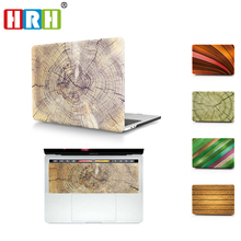 Brown Horn lines Wood Laptop Body Shell Protective Hard Case For MacBook Air 11 13 A1369 / Pro 13 15 A1286/ Pro Retina 12 13 15 gibson hard shell case firebird historic brown