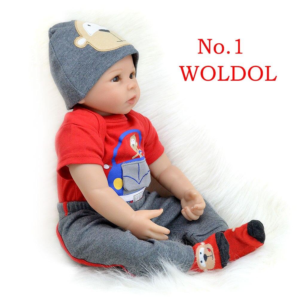 bebes reborn doll 55cm New Handmade Silicone reborn baby adorable Lifelike toddler Bonecas girl kid menina