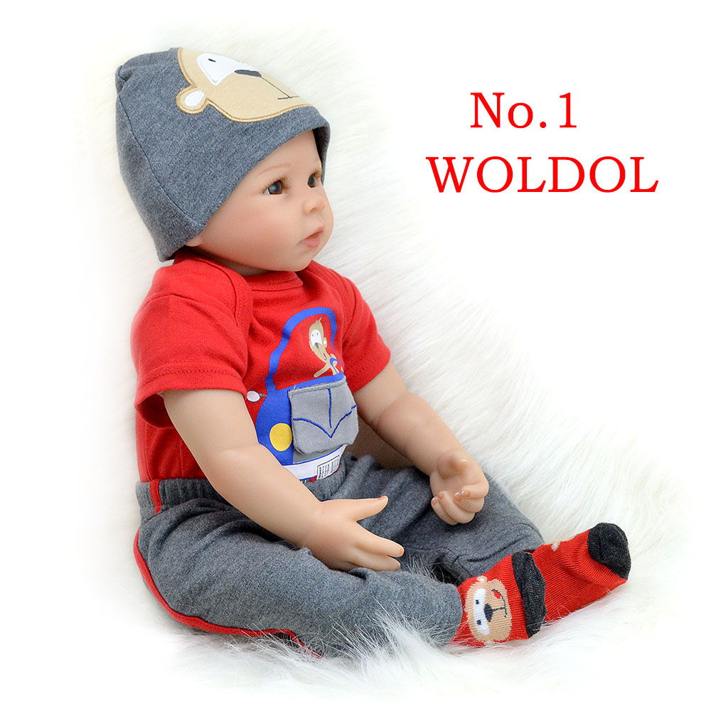 Bebes reborn doll 55 cm nueva silicona hecha a mano reborn bebé adorable realista niño Bonecas chico niño menina de silicona lol muñeca-in Muñecas from Juguetes y pasatiempos    1