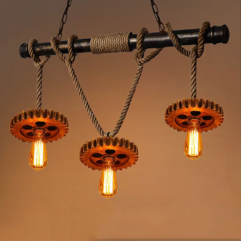 Industry Retro Loft pendant lamp living room decoration pub club bar restaurant cafe light chandelier vintage lighting fixtures loft vintage industrial pendant light fixtures copper glass shade pendant lamp restaurant cafe bar store dining room lighting