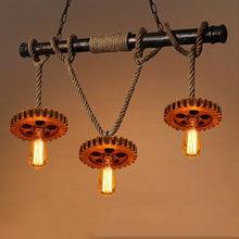 Industry Retro Loft pendant lamp living room decoration pub club bar restaurant cafe light chandelier vintage lighting fixtures цены