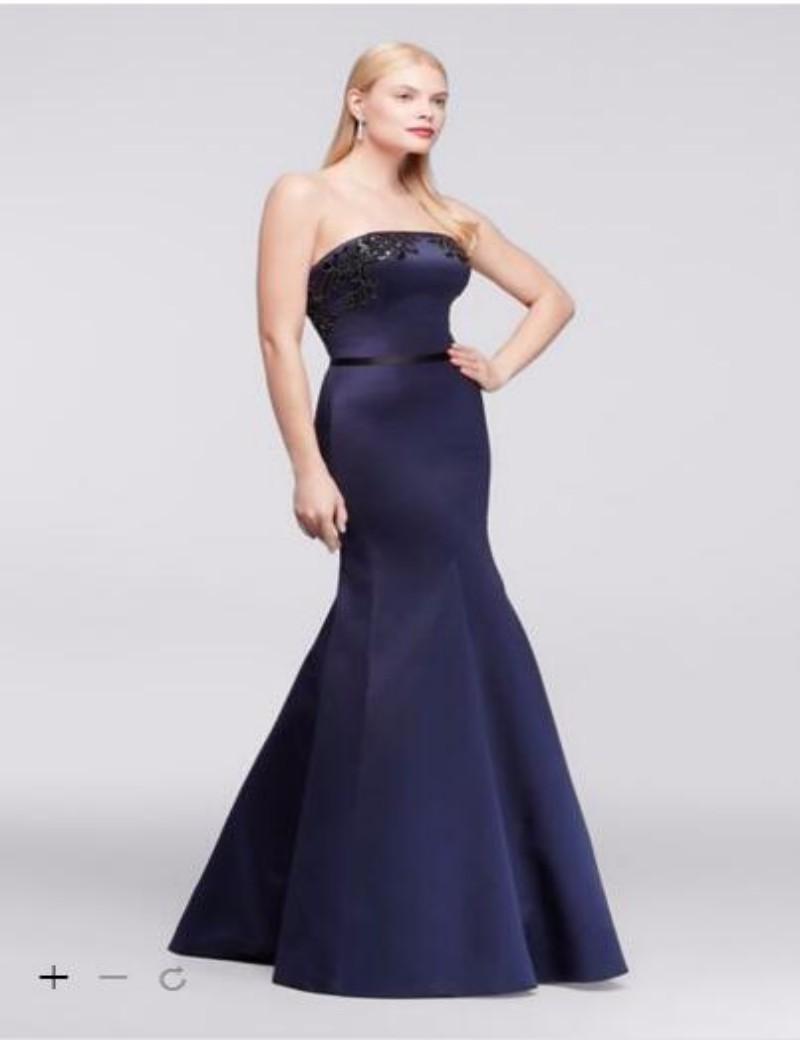 High quality mermaid style bridesmaid dress promotion shop for 2016 satin mermaid dresses strapless with sequins applique bodice and back zipper zp281663 bridesmaid dresses ombrellifo Images