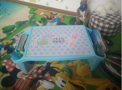 Multi-purpose bed computer desk children receive a case toys. Writing desk