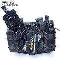 TTGTACTICAL Tactical Gota Leg Platform com Anexado Double Decker Revista Bolsa Revista Pistola Perna Coldre de Perna Coxa Rig Rig