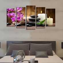 5 Panel  Flowers Canvas Wall Art Painting Modern Prints Picture Home Decorative For Living Room Posters and Framed