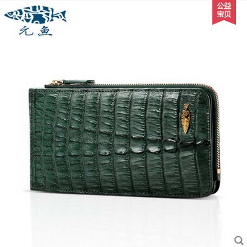 yuanyu Real crocodile handbag card package more screens leather hand bag hand caught the new hand bag long purse yuanyu 2018 new hot free shipping crocodile skin new lady long purse wallet tide crocodile hand caught bag women wallet